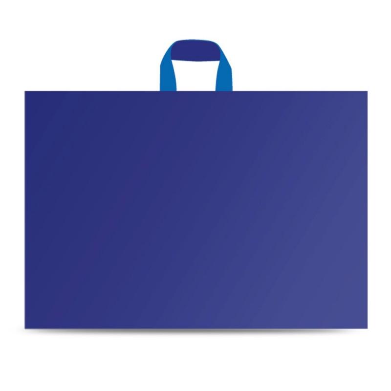 Bolsas de plástico con asa de lazo con un color azul marino con un tamaño de 60x62/50cm