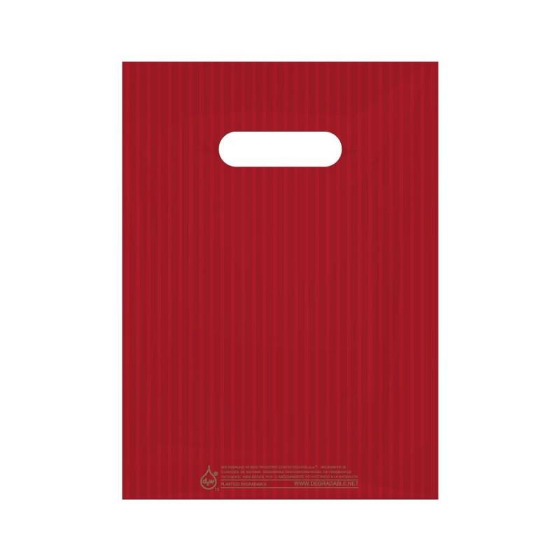 Rayas Rojas   Bolsa de plástico pequeña para detalles (Paquete 200uds.)