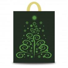 Fantasía Verde | Bolsa de plástico para navidad (Paquete 50uds.)