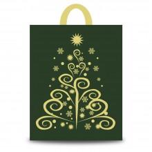 Fantasía Oro | Bolsa de plástico para navidad (Paquete 50uds.)
