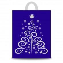 Fantasía Plata | Bolsa de plástico para navidad (Paquete 50uds.)