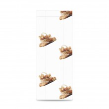 Sobre de papel para panadería color blanco, tiene una medida de 9+5x30 centímetros, el sobre está fabricado con papel de 30 gr