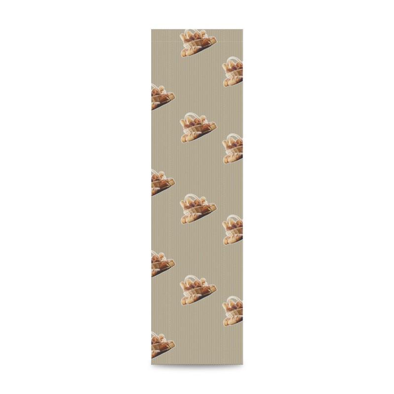 Sobre de papel para panadería color kraft,tiene una medida de 12+5x55 centímetros, está fabricado con papel de 30 gramos
