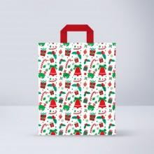 Bolsa Papel Asa Plana Navidad