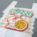 Pizzería Pequeña | Bolsa de plástico para llevar pizza (Paquete 200uds)
