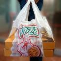Pizzería Mediana | Bolsa de plástico para llevar pizza (Paquete 200uds)