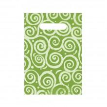 Espirales Verde | Bolsa de plástico oxodegradable (Paquete de 250uds.)
