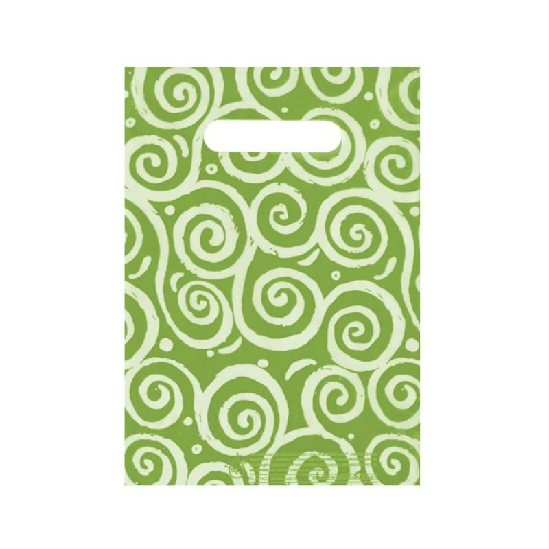 Espirales Verdes   Bolsa de plástico oxodegradable