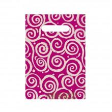 Espirales Rosa | Bolsa de plástico oxodegradable (Paquete de 250uds.)