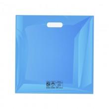 Cuadrada Azul | Bolsa de plástico reutilizable (Paquete de 100uds.)