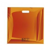Cuadrada Naranja | Bolsa de plástico reutilizable (Paquete de 100uds.)