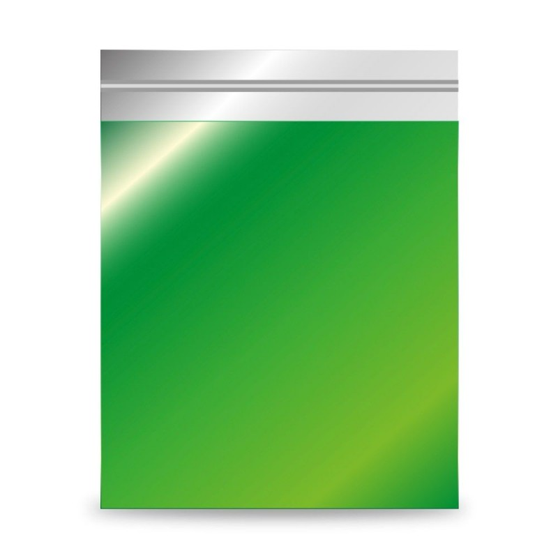 Verde   Sobre de plástico metalizado