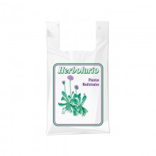 Bolsa de plástico para herbolario con una medida de 25/15x30 centímetros.