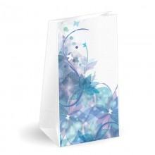 Flores | Sobre americano de papel con fondo cuadrado (Paquete 50uds.)