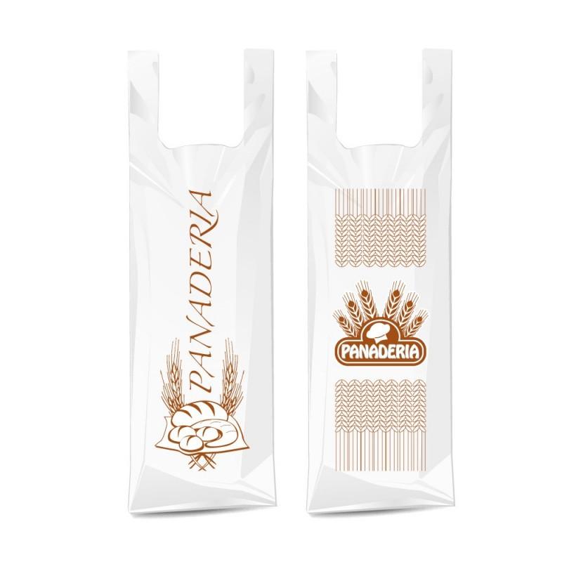 Bolsa de compostable y biodegradable para panadería mediana con un tamaño de 35/23x50 cm.