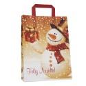 Muñeco de nieve | Bolsa de papel para navidad (Paquete 25uds.)