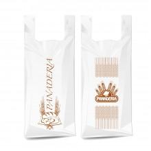 Bolsa de compostable y biodegradable para panadería grande con un tamaño de 45/26x55 cm.