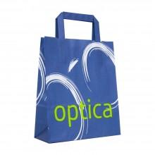 Óptica Papel | Bolsa de papel de asa plana para ópticas (Caja 200uds.)