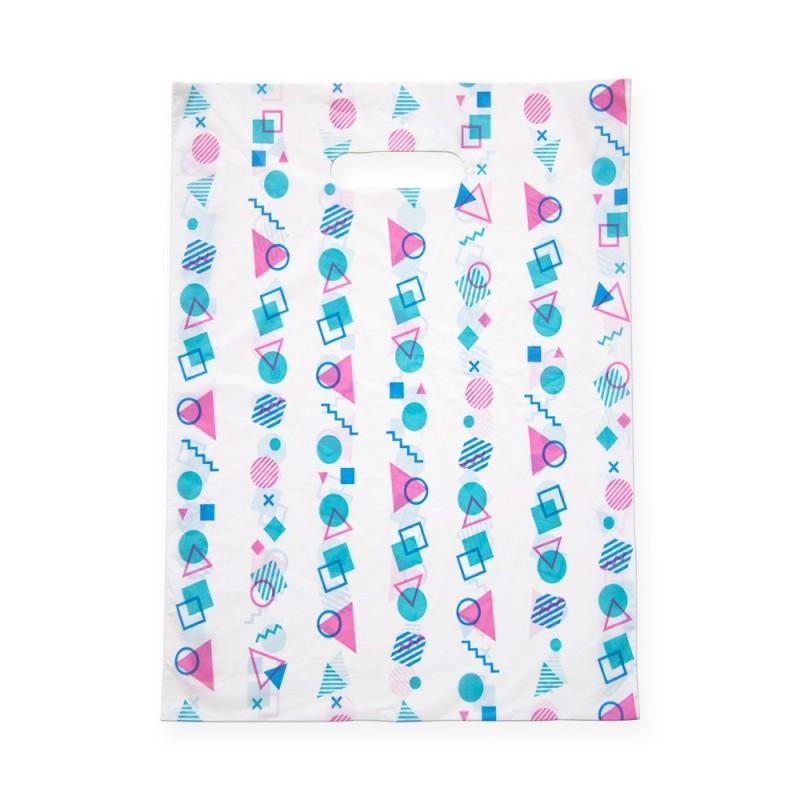 Geometría | Bolsa de plástico con asa de troquel (Paquete 100uds.)