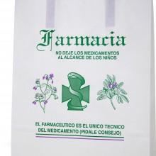 Bolsa de papel para farmacia - Tamaño 25+9x34