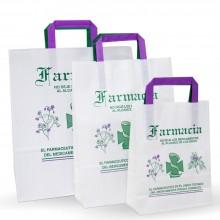 Conjunto bolsas de papel para farmacia