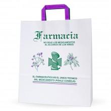 Bolsa de papel para farmacia - Tamaño 32+12x37
