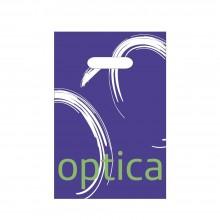 Óptica Azúl | Bolsa de plástico para óptica con asa troquel (Paquete 100uds.)