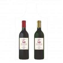 Bolsa de plástico reciclado para dos botellas de vino con una medida de 22x50/40 cm, contiene un 70% de material reciclado