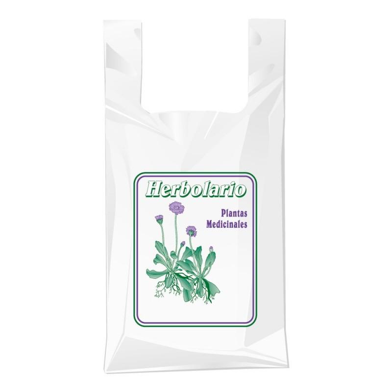 Bolsa de plástico para herbolario con una medida de 40/26x50 centímetros.