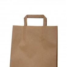 Camel 25+9x34 | Bolsa de papel kraft marrón con asa plana (Caja 150uds.)