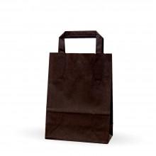 Negra 18+8x24 | Bolsa de papel con asa plana (Caja 225uds.)
