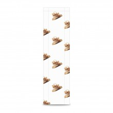Sobre de papel para panadería color blanco, tiene una medida de 9+5x55 centímetros, el sobre está fabricado con papel de 30 gr