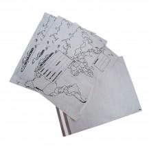Sobres de plástico reciclado para mensajería con una medida de 35x47 centímetros