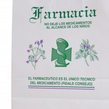 Farmacia 32+12x37 | Bolsa de papel con retorcida o rizada