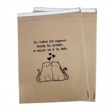 Frase Gatitos | Sobre de papel para regalo (Paquete de 50uds.)