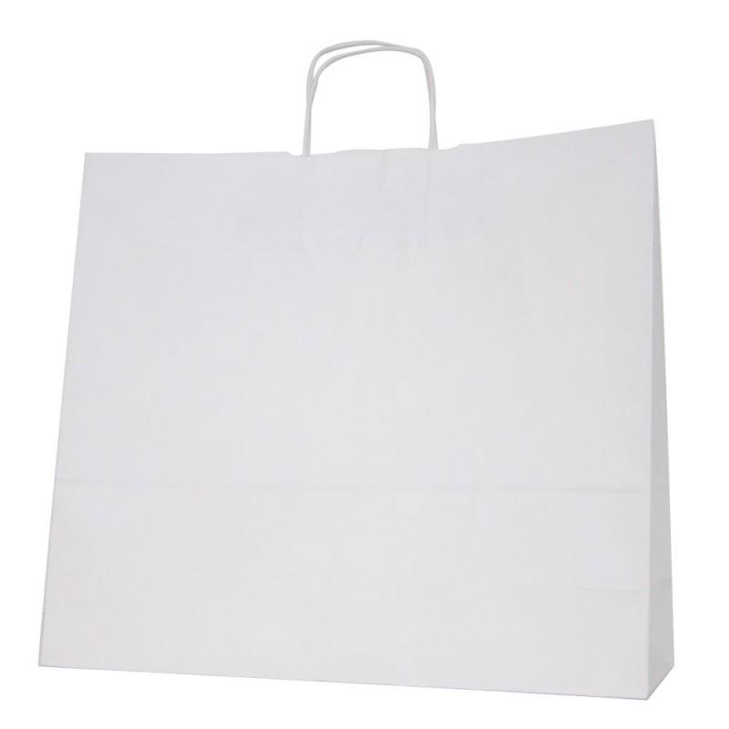 Blanca 45+14x40 | Bolsa de papel blanco con asa retorcida