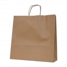 Camel 37+12x37 | Bolsa de papel kraft marrón con asa retorcida