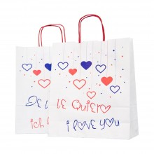 Bolsa de papel para regalo | 32+12x37 cm | Caja 125uds