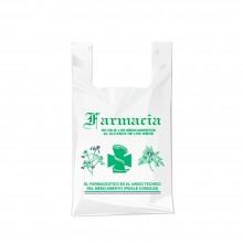 Bolsa compostable y biodegradable para farmacia con una medida de 25/15x30 centímetros.
