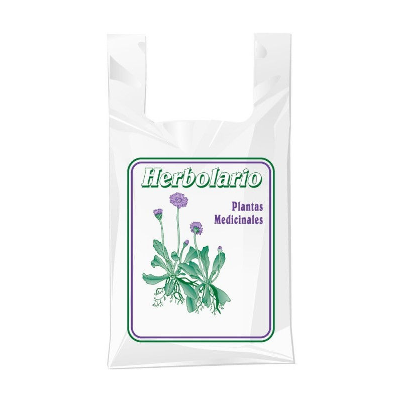 Bolsa de plástico para herbolario con una medida de 30/19x35 centímetros.