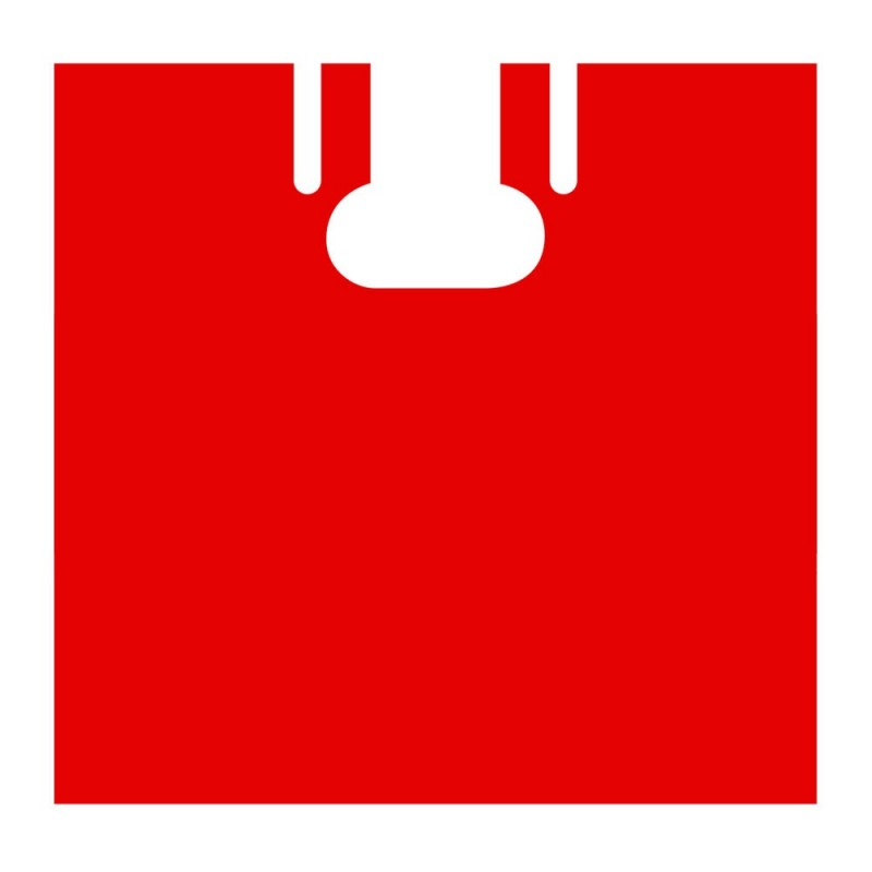 Capa de peluquería  de un solo uso color rojo, fabricada en plástico con una galga 80 o 20 micras