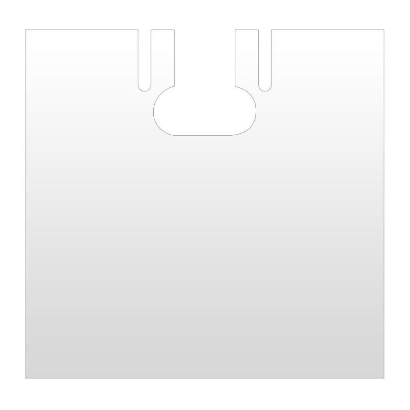 Capa de peluquería  de un solo uso color blanco, fabricada en plástico con una galga 80 o 20 micras