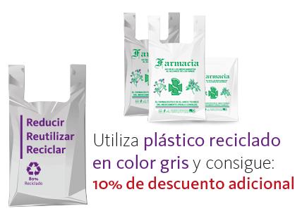 Oferta bolsas plástico reciclado