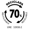 UNE-53930-2 Bolsas recicladas
